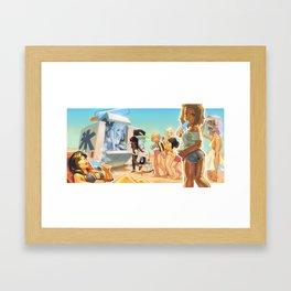 Summer Girls 5.0 Framed Art Print