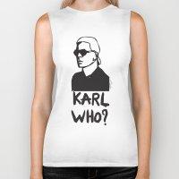 karl Biker Tanks featuring Karl who? by Muneera B