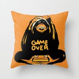 Orange Quick Foot Throw Pillow