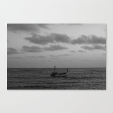 one man boat Canvas Print