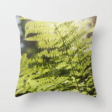 Sun leaf Throw Pillow
