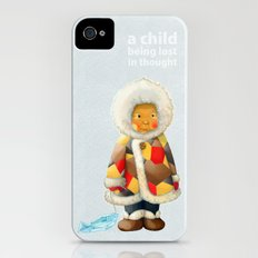 a child being lost in thought iPhone (4, 4s) Slim Case