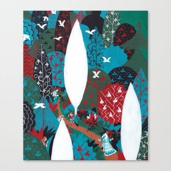 Russian Folk Tales - Tzar of the seas Canvas Print