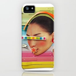 What are the birdies saying?   Collage iPhone Case