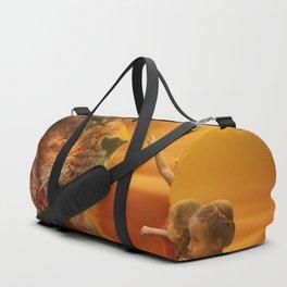 Lion twins | Lion et jumelles Duffle Bag