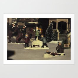 Snow Fun Art Print