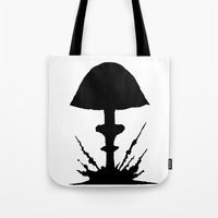 mushroom Tote Bags featuring Mushroom by Kristijan D.