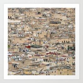 Skyline Roofs of Fes Marocco Art Print