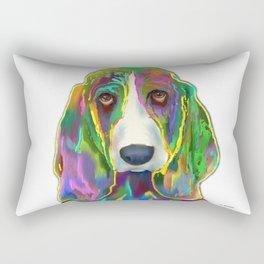 Basset Hound 3 Rectangular Pillow