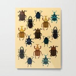Bugs and beetles Metal Print
