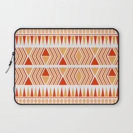052 Traditional orange and red navajo pattern interpretation Laptop Sleeve