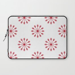 Snowflakes - white and red Laptop Sleeve