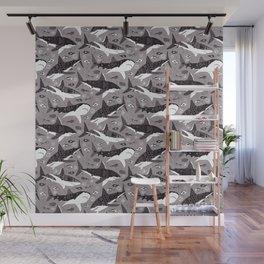 Sharks On Grey Wall Mural