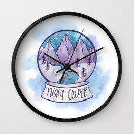 NIGHT COURT SNOW GLOBE Wall Clock