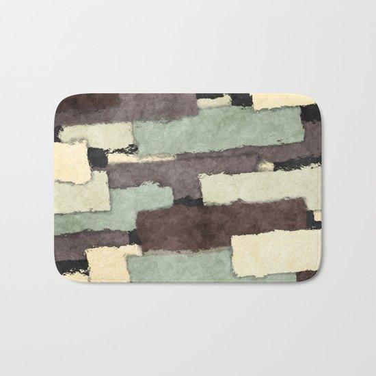 Textured Layers Abstract Bath Mat