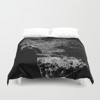 san diego Duvet Covers featuring san diego map by Line Line Lines