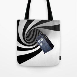 Tardis in the hole Tote Bag