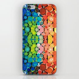 Healing Colors - Colorful Abstract Art By Sharon Cummings iPhone Skin
