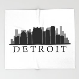detroit skyline Throw Blanket
