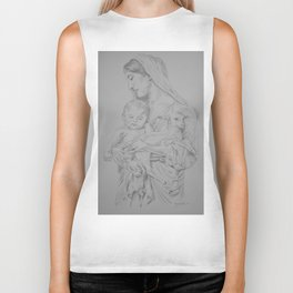 Mary and Baby Jesus Biker Tank