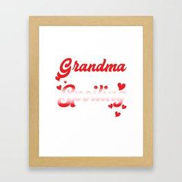 Amazing Costume For Grandma. Top Gift Framed Art Print