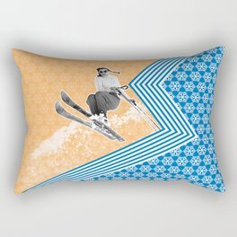 Ski Like a Girl Rectangular Pillow