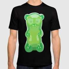 gummy bears green grape flavor Mens Fitted Tee Black X-LARGE