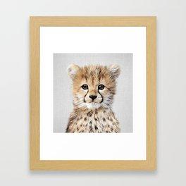Baby Cheetah - Colorful Framed Art Print