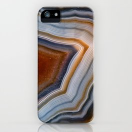 Layered agate geode 3163 iPhone Case