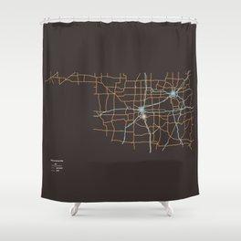 Oklahoma Highways Shower Curtain