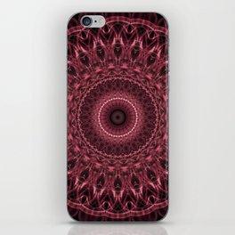 Red and pink mandala iPhone Skin