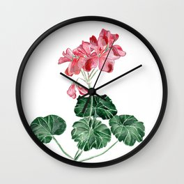 Geranium Wall Clock