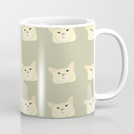 Sage green tabby cat  Coffee Mug