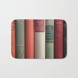 Old Books - Square Bath Mat