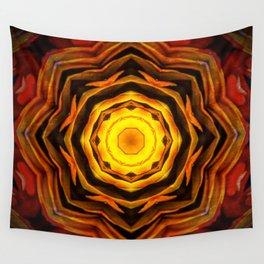 flor pluma Wall Tapestry