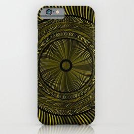 Golden Circles Art iPhone Case