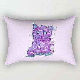 Glitchy Kitty Rectangular Pillow