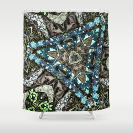 Blue Pine Shower Curtain