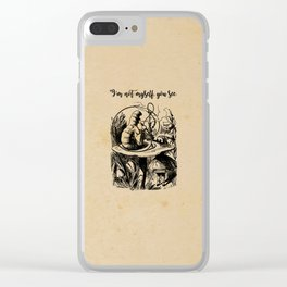 Not Myself - Lewis Carroll - Alice in Wonderland Clear iPhone Case