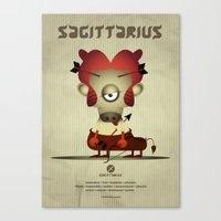sagittarius Canvas Prints featuring SAGITTARIUS by Angelo Cerantola