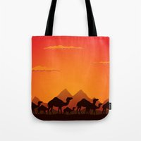 camel Tote Bags featuring Camel by aleksander1