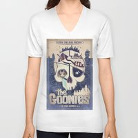 the goonies V-neck T-shirts featuring Goonies by Jared Andolsek