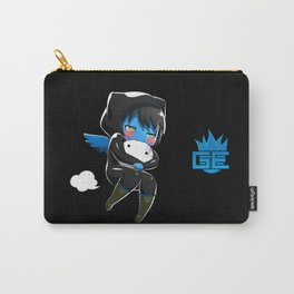 Fuzzy Chibi Luc (Expression 2) w/ Black Background Carry-All Pouch