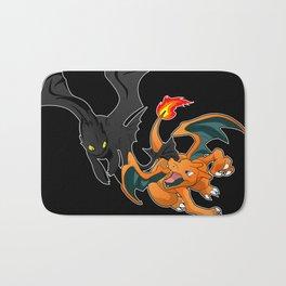 An Epic Dragon Battle Bath Mat