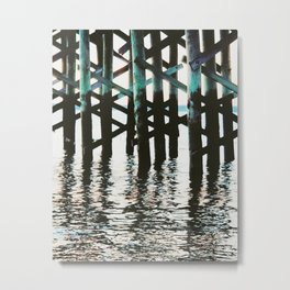 Reflection at the Pier Metal Print
