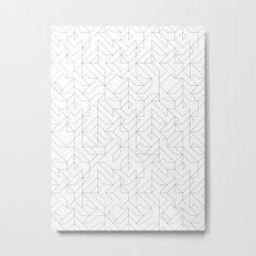 Geometric Camo Metal Print