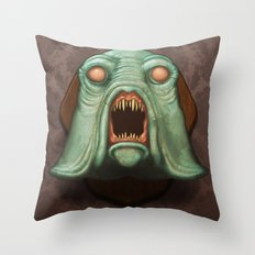 Swamp Alien Throw Pillow