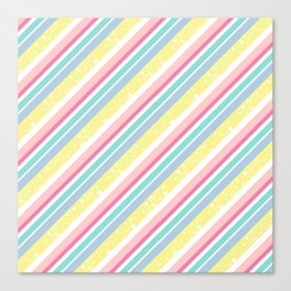 Party stripes Canvas Print