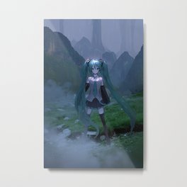 Hatsune Miku Vocaloid Metal Print