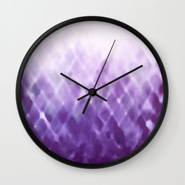 Diamond Fade in Violet Wall Clock
